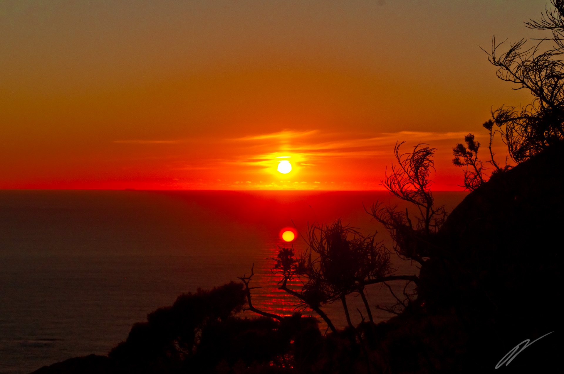 Sonnenuntergang am Kap Finisterre
