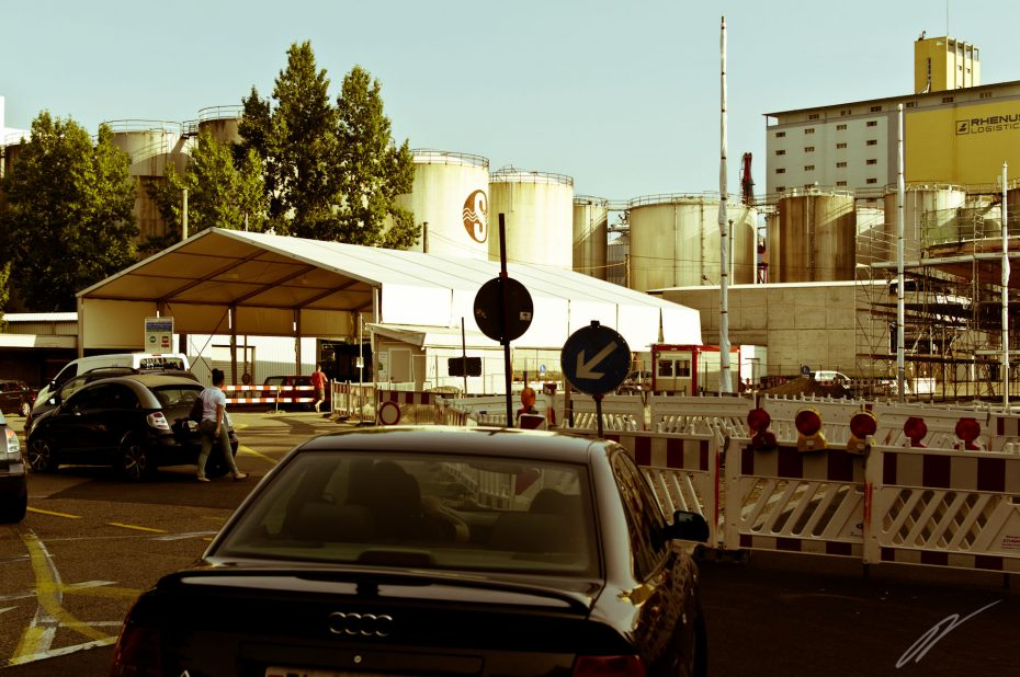 Grenzübergang bei Basel