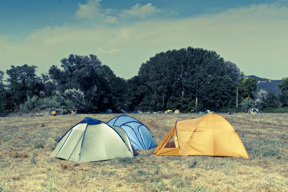 Camping in der Sonne