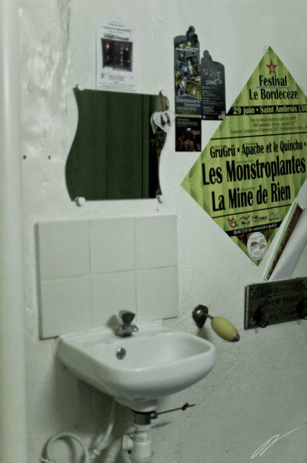 Die Toilette des Piratenrestaurants