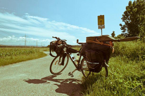 Fahrradweg nach Basel