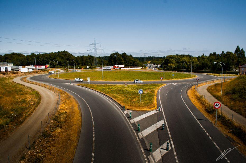 überdimensionierter Kreisverkehr