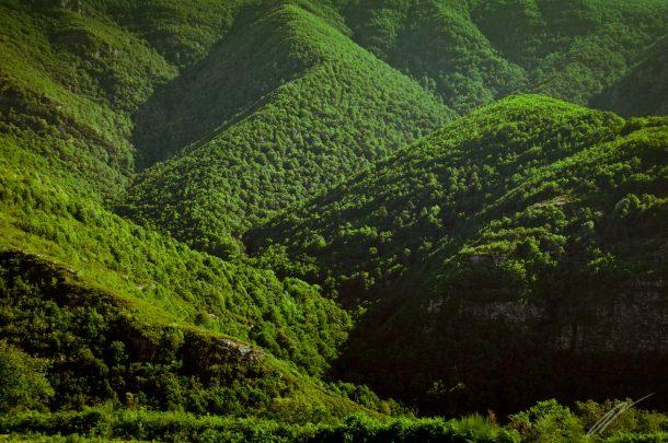 galicische grüne Berge