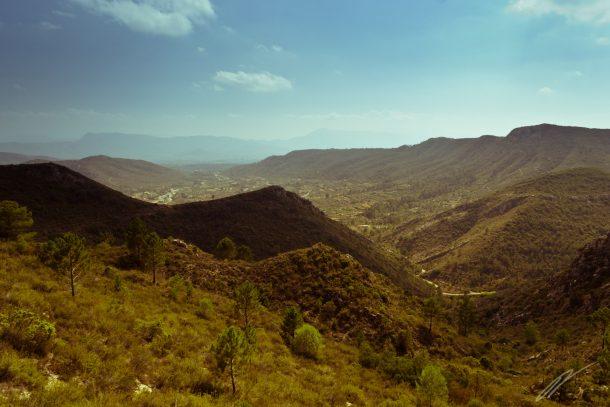 Berge südlich von Valencia