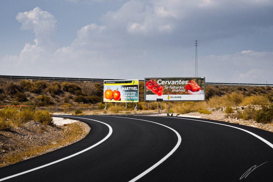 Werbung für Tomaten