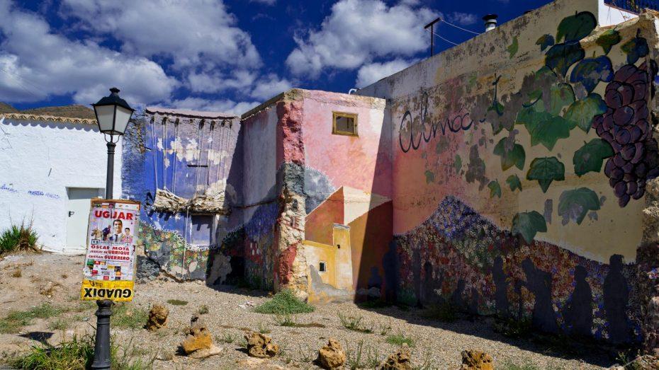 Hauswand in Almócita