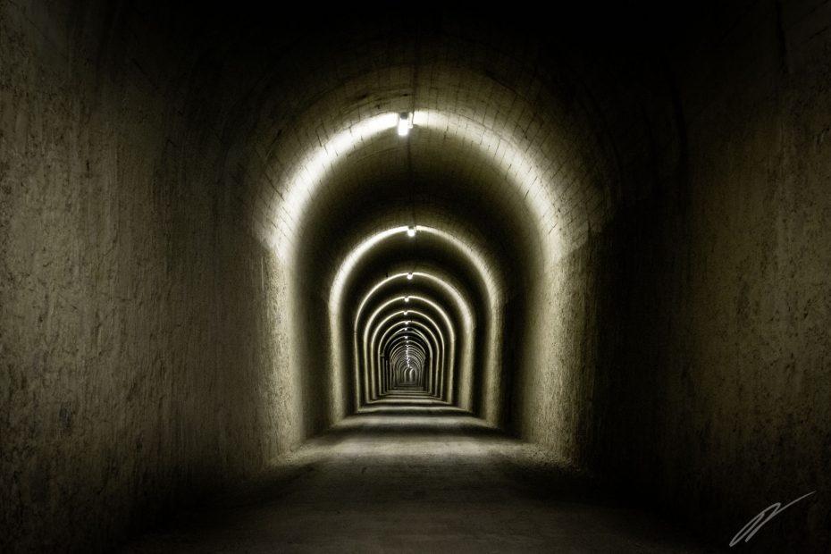 Tunnel auf der Vía Verde de la Sierra
