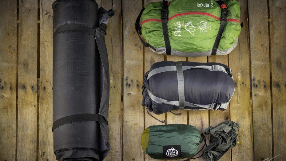 Reisegepäck für die Übernachtung